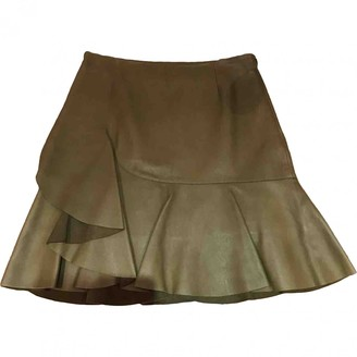 Alexander McQueen Green Leather Skirt for Women