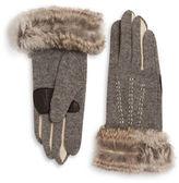 Echo Touch Colorblock Fur Trim Gloves