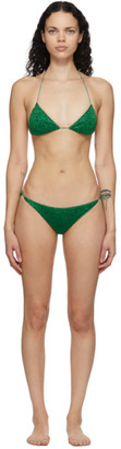 Oseree Green Lumiere Halter Bikini