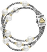Lagos Women's Luna Pearl Triple Strand Bracelet