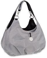 Lassig Gold Label Shoulder Diaper Bag in Metallic Silver