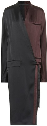 Haider Ackermann Satin wrap dress