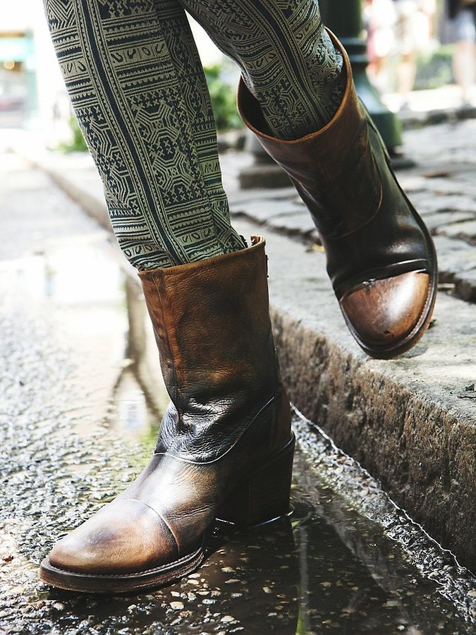 Blur Zipper Ankle Boot