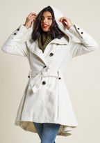 Steve Madden Once Upon a Thyme Coat in Almond in XL - Fit & Flare Coat by from ModCloth