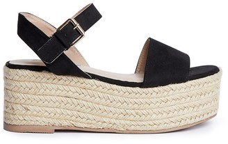 Miss Selfridge chunky flatform sandals in black