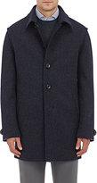 Lodental Men's Wool-Mohair Balmacaan Coat-BLUE