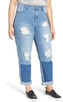 Glamorous Plus Size Women's Distressed Boyfriend Jeans