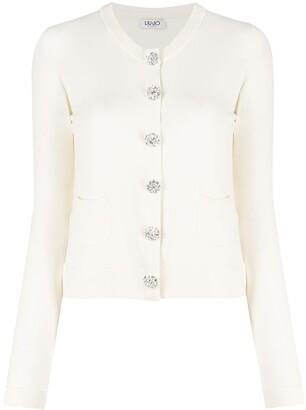Liu Jo Crystal-Embellished Buttons Cardigan