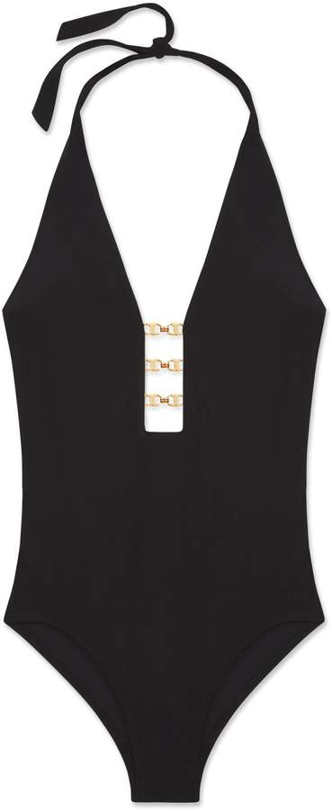 Tory Burch GEMINI LINK PLUNGE ONE-PIECE