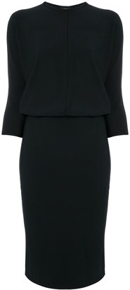 James Perse Rib-Knit Blouson Dress