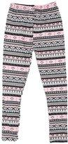 Expert Design Girl's Beautiful Mixed Color Elaborate Tribal Pattern Print Leggings - L/XL