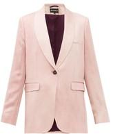 Ann Demeulemeester Yana Single-breasted Satin Jacket - Womens - Light Pink