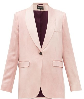 Ann Demeulemeester Yana Single-breasted Satin Jacket - Womens - Light Pink