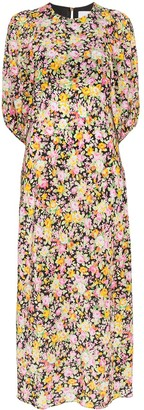 Les Rêveries Psychedelic Meadow floral print midi dress