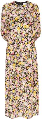 Les Rêveries Psychedelic Meadow floral print midi dress