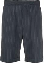 Hydrogen turn up cuff striped shorts