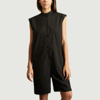 Maison Margiela Black Korean Collar Jumpsuit - IT42 = 38 | cotton | black - Black/Black