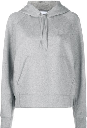 Y-3 Logo-Print Cotton Hoodie