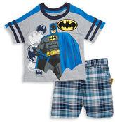 Nannette Boys 2-7 Batman Tee and Shorts Set
