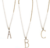 Lulu Frost Plaza Letter Necklace - Pearl Chain