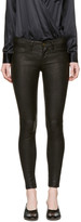 Frame Black Leather 'Le Skinny De Jeanne' Pants