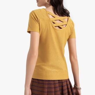 Anne Weyburn Lattice Back T-Shirt