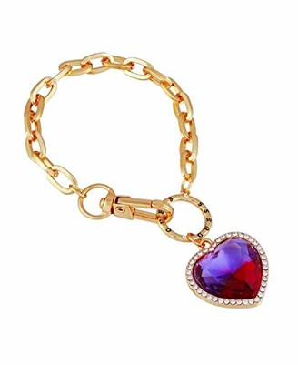 GUESS line Bracelet with Stone Heart