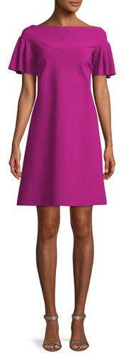 Chiara Boni Viketta Flutter-Sleeve Cocktail Dress