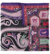 Etro floral and paisley scarf