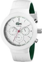 Lacoste Men's 2010653 Borneo Green and Stainless Steel Watch with Silicone Band