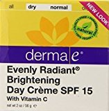 Derma E Radiant Day Creme Spf15, 2 Oz
