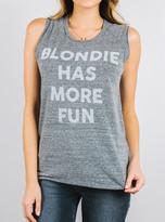 Junk Food Clothing Blondie Has More Fun Raglan Tank-steel-xs