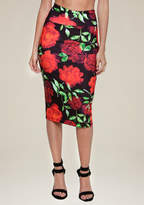Bebe Print Midi Skirt