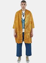 Swati Kalsi Men's Silk Long Embroidered Coat In Orange