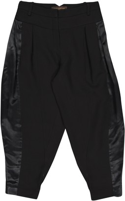 Louis Vuitton Black Silk Trousers