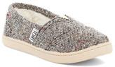 Toms Silver Fleck Faux Fur Lined Classics Slip-On Shoe (Little Kid & Big Kid)