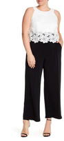 Sangria Lace Popover Jumpsuit (Plus Size)