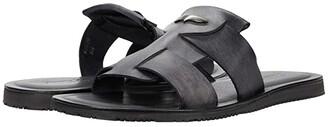 Massimo Matteo Two Band Slide Sandal (Black) Men's Shoes