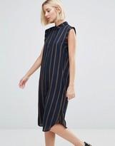Selected Louay Sleeveless Stripe Shirt Dress