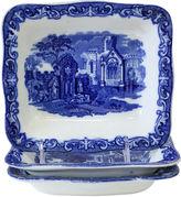 One Kings Lane Vintage Antique Flow Blue Serving Bowls, S/3