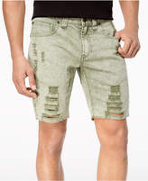 INC International Concepts I.N.C. Men's Olive Shredded Shorts, Created for Macy's
