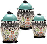 Tracy Porter Rose Boheme 3-Pc. Canister Set