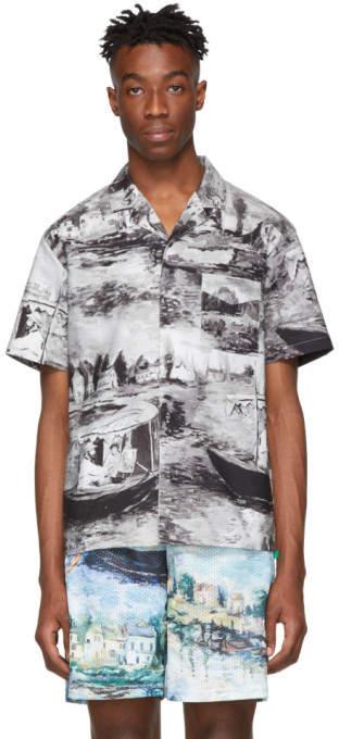 Off-White Off White Grey Lake Holiday Shirt