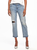 "Old Navy Distressed Cropped Boyfriend Jeans for Women (24"")"