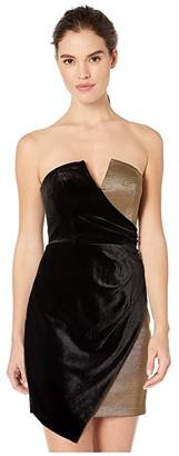 BCBGMAXAZRIA Eve Short Knit Dress (Black Combo) Women's Clothing