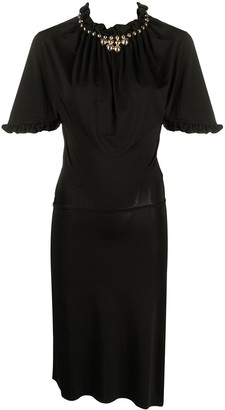Paco Rabanne Ruffle-Detail Slit Dress