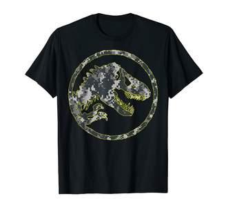 Fossil Jurassic World Camouflage T-Rex Logo T-Shirt