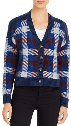1 STATE 1.STATE Plaid Cropped Cardigan
