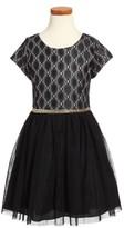 Nanette Lepore Girl's Glitter Lace Dress