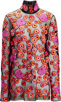 Joseph Field Floral Embroidery Vienna Blouse